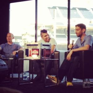 Members of JPL Mars Curiosity team speaking at NerdHQ during Comic Con 2013